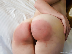 Bare Ass Blonde Punished! - (Spanking)