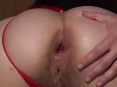 LWJ - Brunette Hairy Gaped Thick Ass