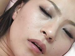 Studs tease babe's clit with a toy before they both fuck her
