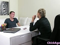 Euro female casting agent bentover and fucked