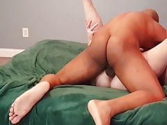Hung stud sneaks in his coworkers bed for some pussy again