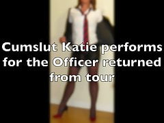 Cumslut Katie and the Officers cock
