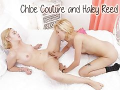Blonde teens Chloe Couture and Haley Reed