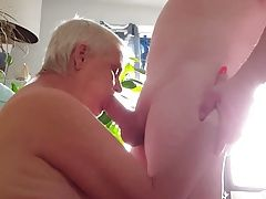 The New Cleaning Lady Sucks Cock