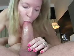 busty cougar milf with big boobs loves young cock inside